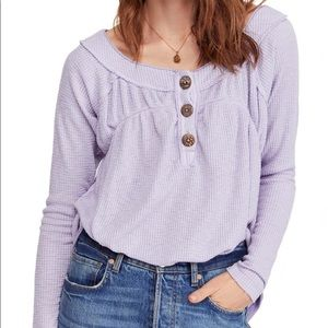 Free People Lavender Must Have Henley